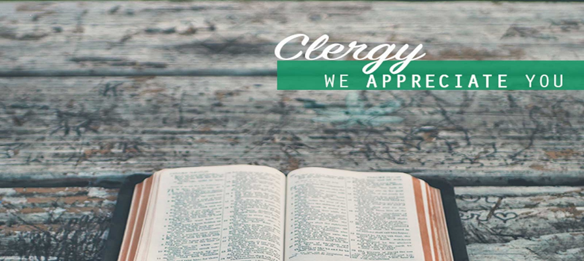 Clergy Appreciation Month Banner